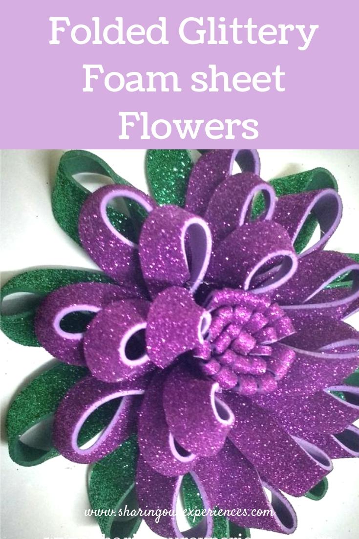 Glitter foam flower