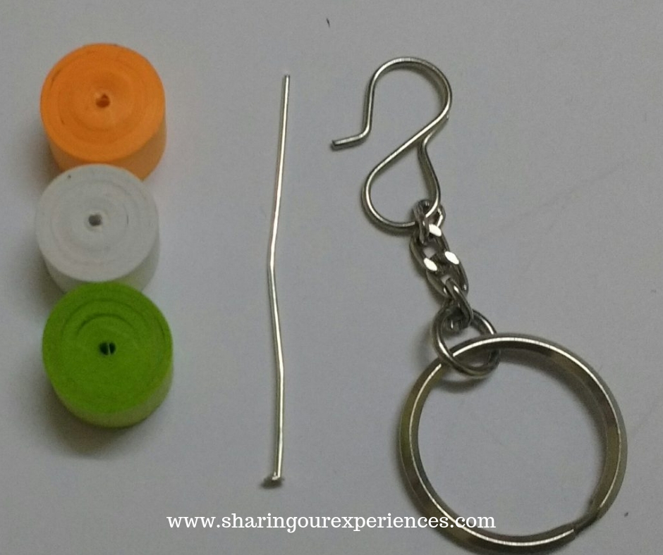 Quilled Key chain
