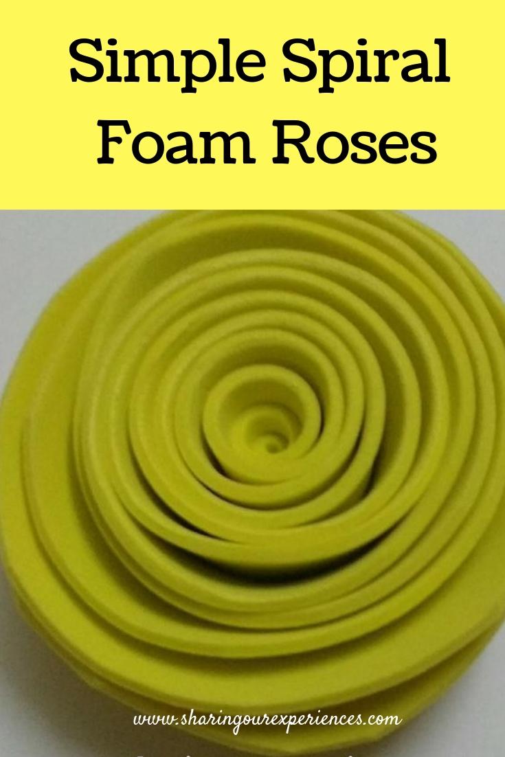 Spiral Foam rose
