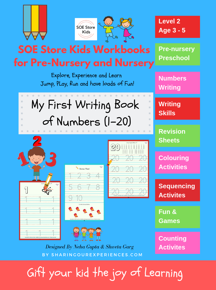 SOE store Number writing book Preschool worksheets
