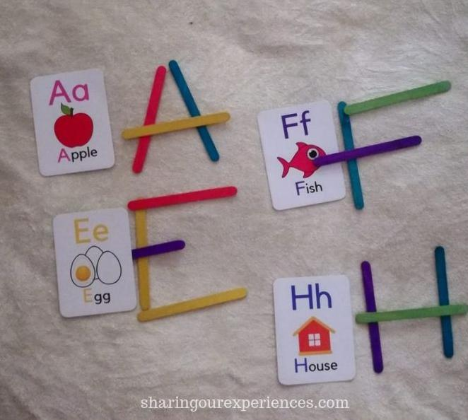 Alphabet Flash Card Activities and games with kids