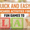 Quick and Easy Flashcards Activities with toddlers - Fun ways to use flashcards at home with kids