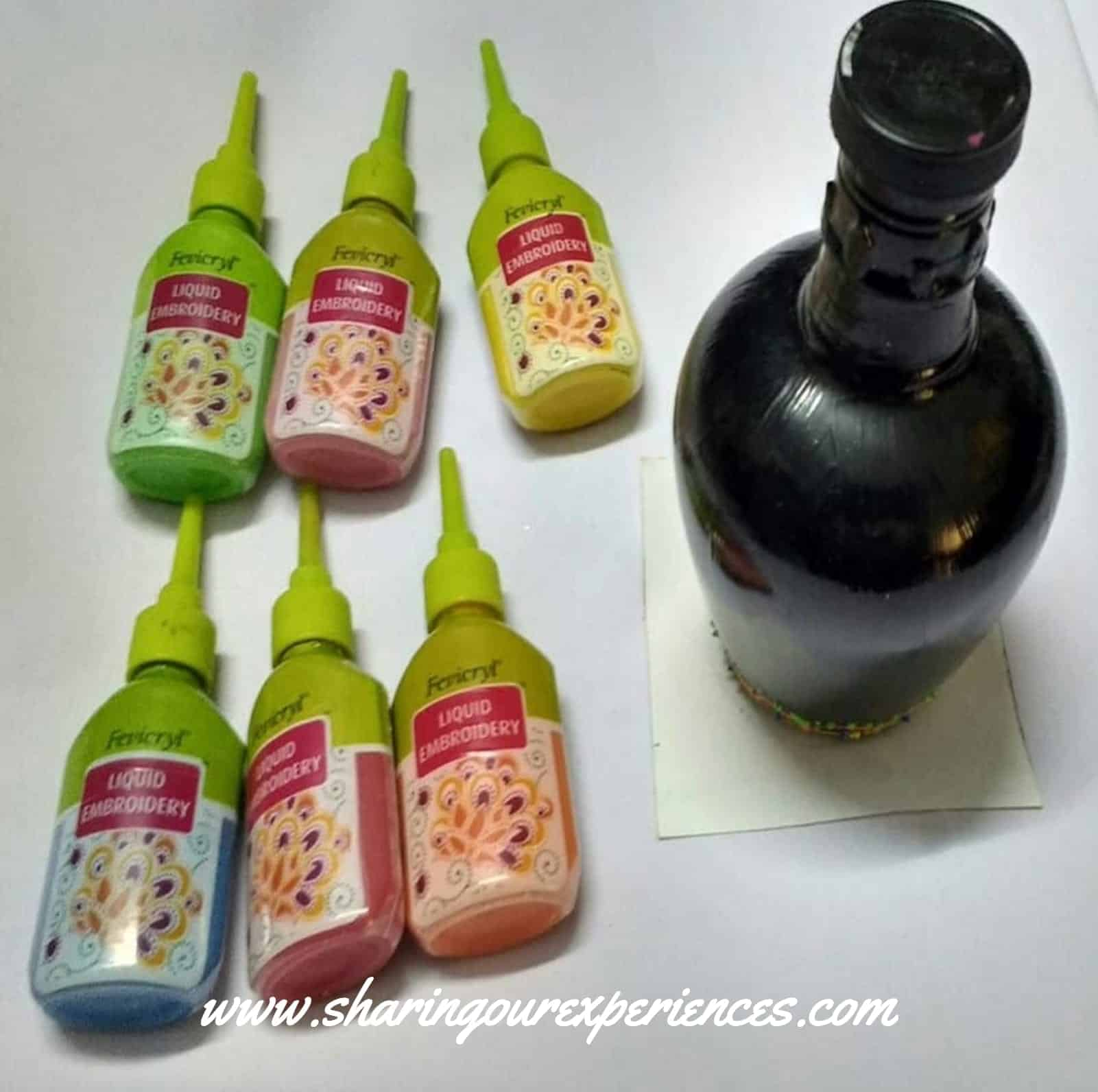 DIY bottle painting