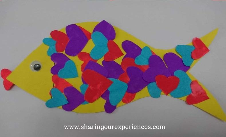 colorful fish cut n paste activity