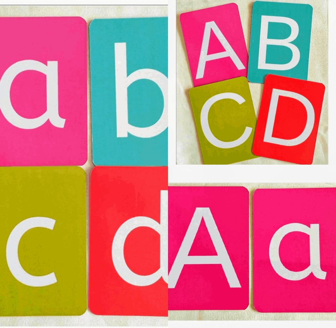 Alphabets flash cards for kids to avoid screen time