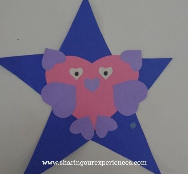 bird using star and heart