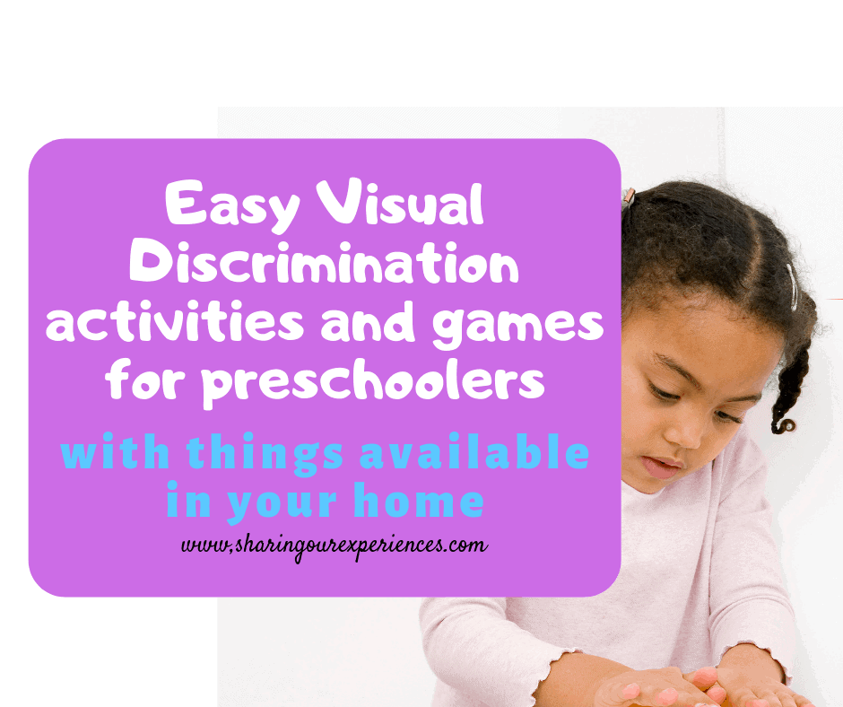 Easy Visual Discrimination activities and games for preschoolers