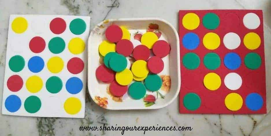 Easy Counter Game for improving Visual discrimination. If you are looking for how to improve Visual Discrimination skills of preschoolers? Check out these easy Visual Discrimination activities and games for preschoolers at home that you can easily play or set up with things available at home.