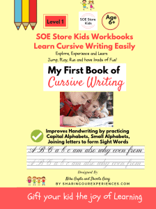 Cursive writing Book Hand writing Improvement Book 1 cover front