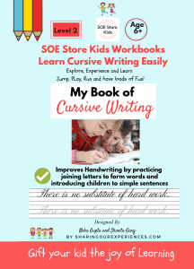 Cursive writing Hand writing improvement activity book