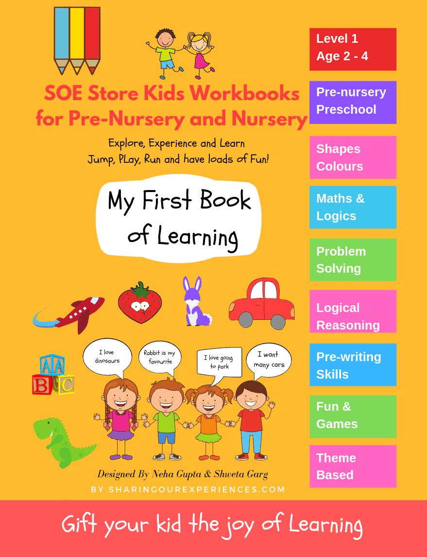 Preschool Activity Books for Kids toddlers nursery prenursery preschoolers