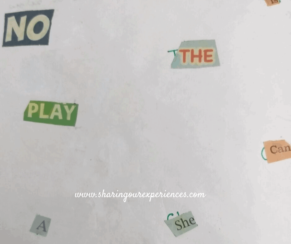 How to teach sight words at home Activity 4