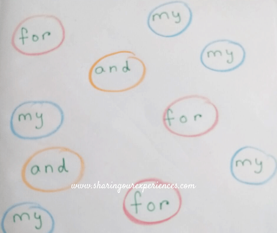 How to teach sight words at home Lacing sightwords Activity 6