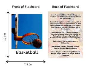Sports flashcards front and back