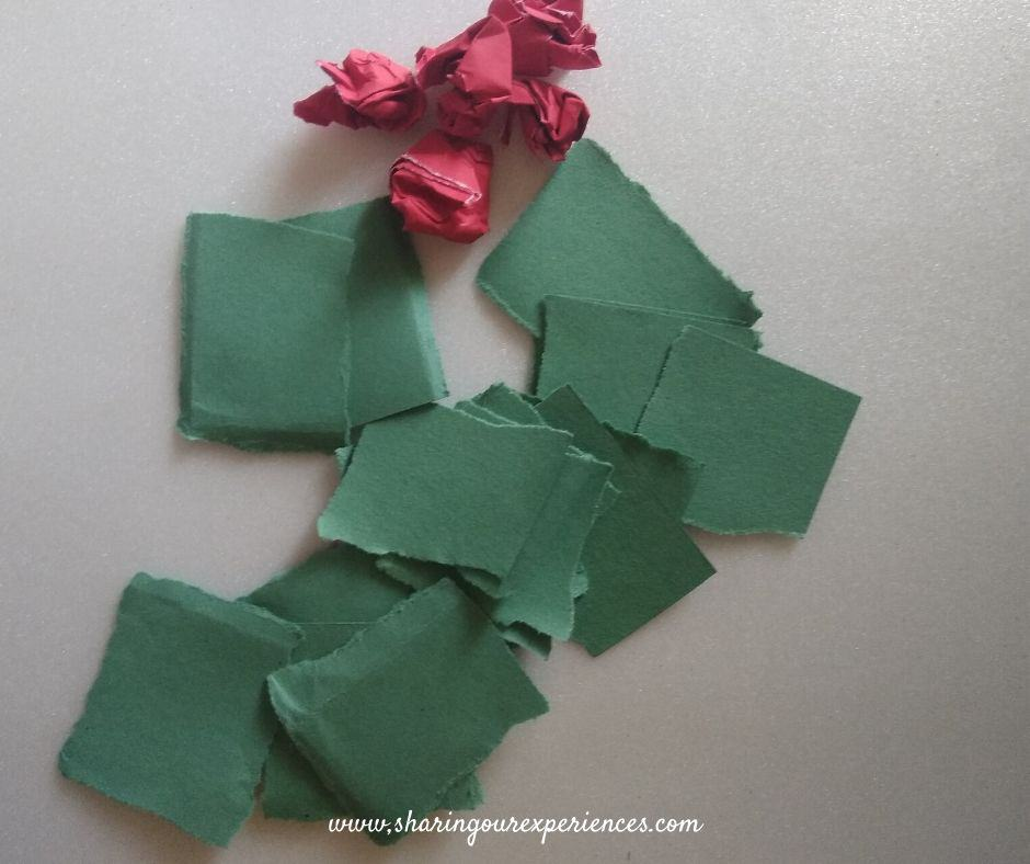 DIY Christmas wreath with paper plates