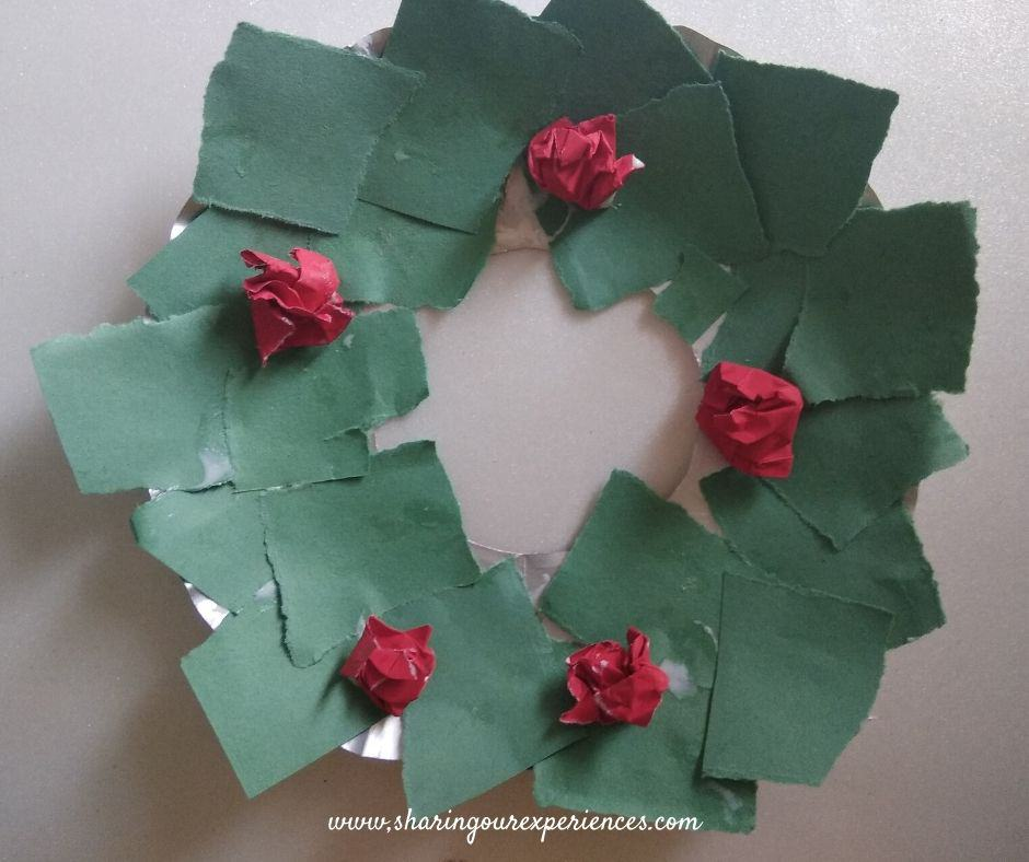 Diy Christmas wreath with paper plate
