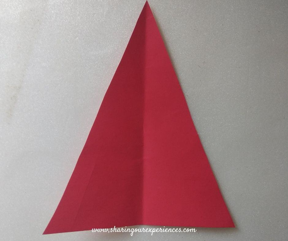 Santa using chart paper