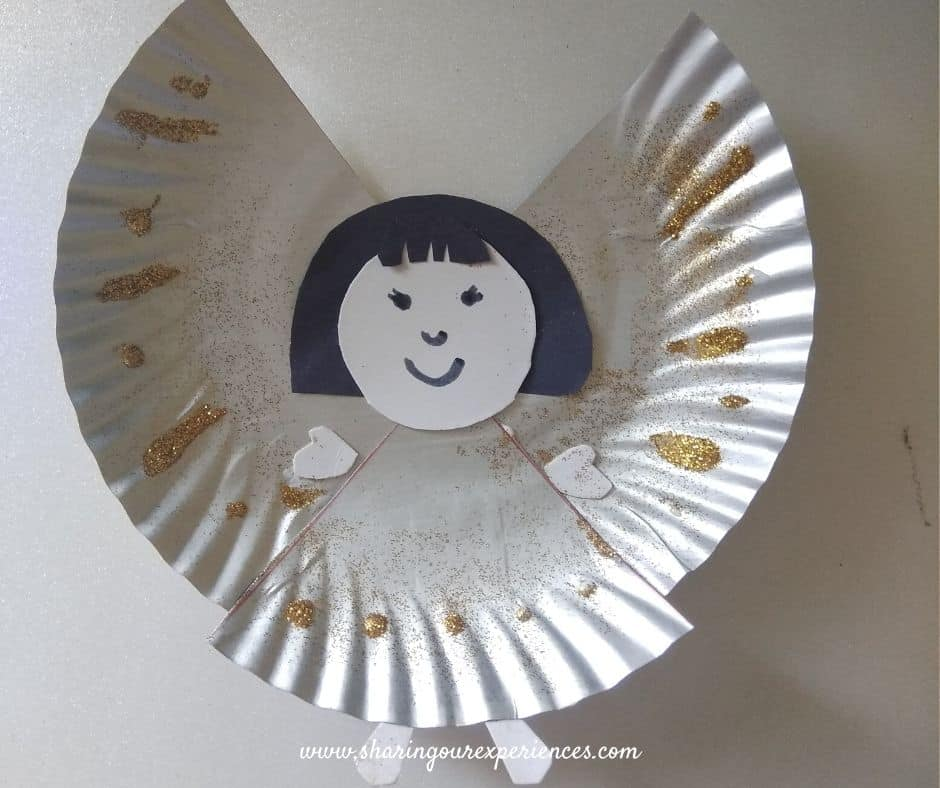 christmas fairy with paper plate