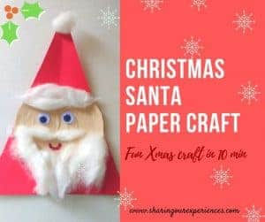 DIY Christmas Santa paper craft