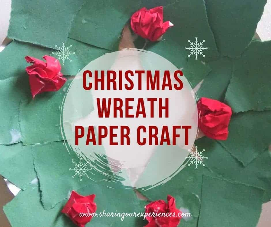 DIY Christmas Wreath with papers