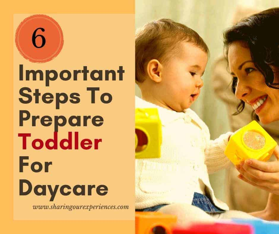 important steps to prepare toddler for day care