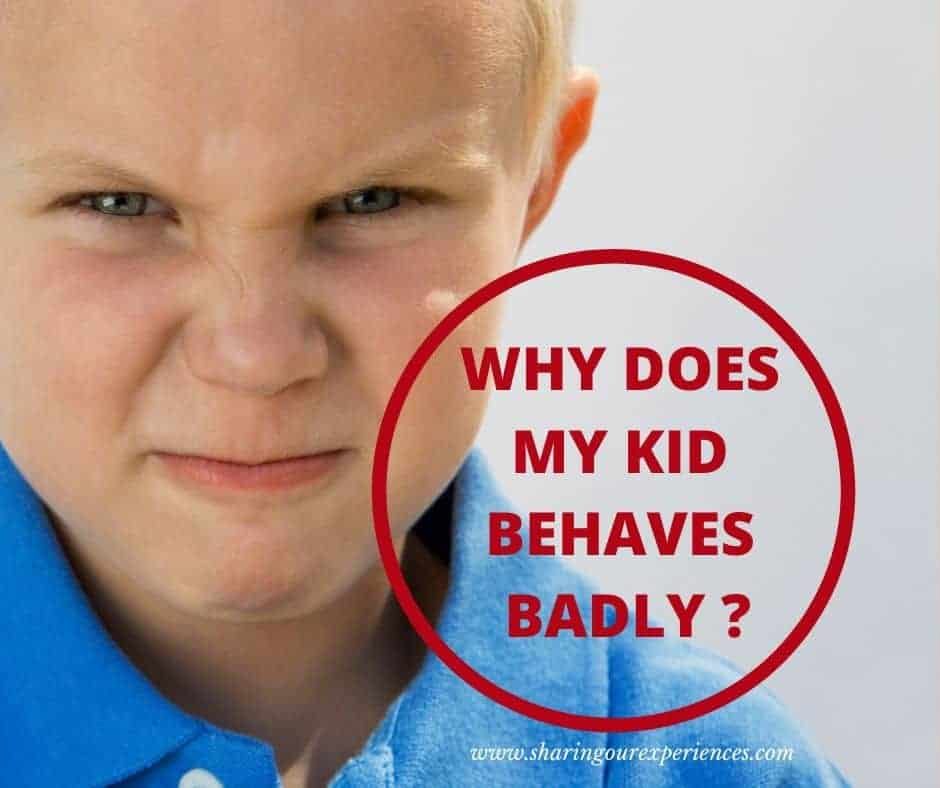 why does my kid behave badly