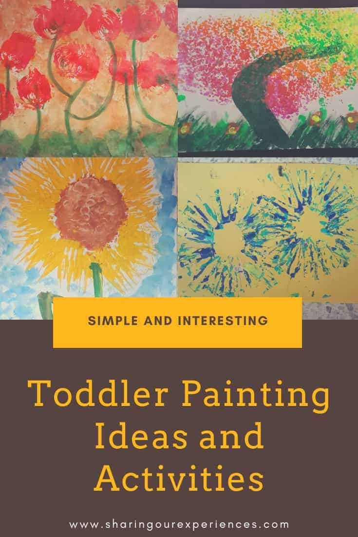 Toddler painting and activities