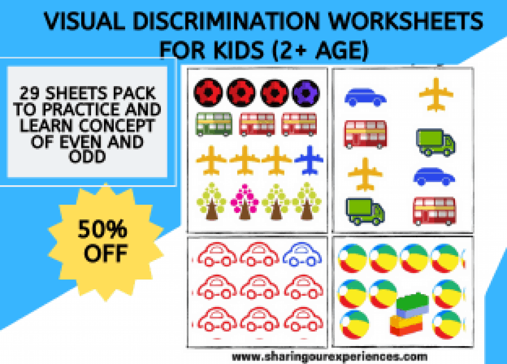 Visual Discrimination worksheets toddlers