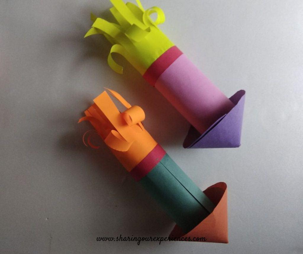 fire cracker Diwali craft for kids