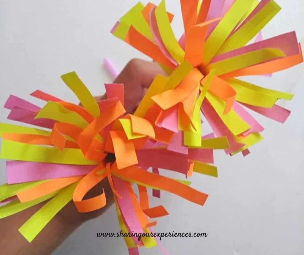 Fire cracker Diwali craft with paper