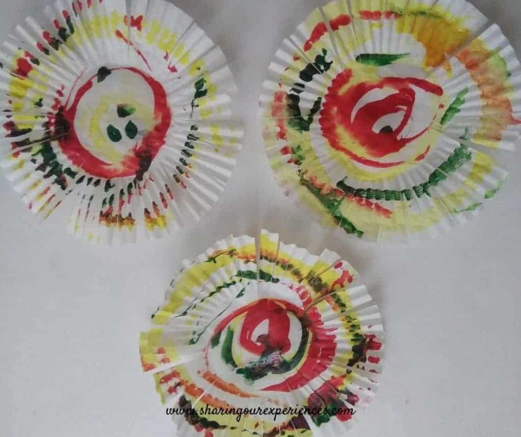 fire cracker craft with cup cake liners