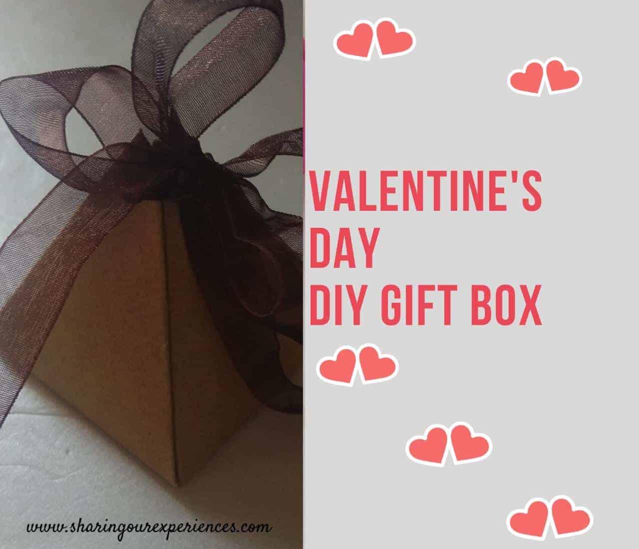 Valentines Day DIY gift box