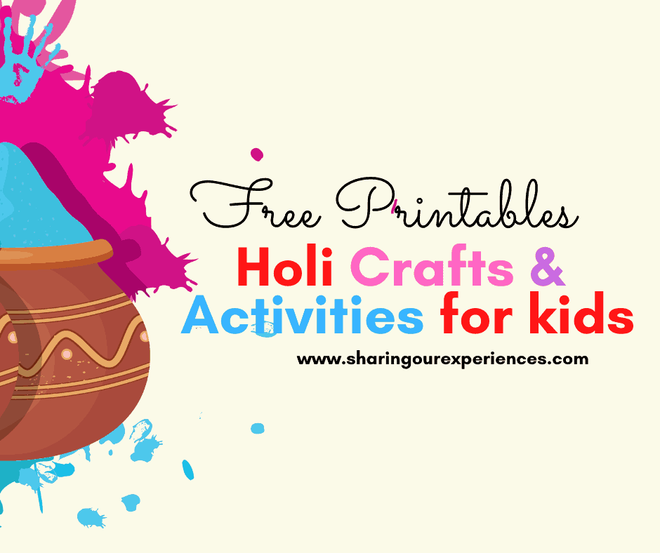 Fun Holi Crafts and Activities for kids - Download Free Holi printables pdf    Sharing Our Experiences