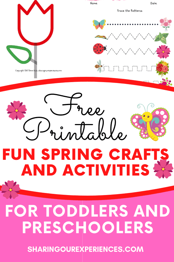 Free spring themed printables crafts activities for toddlers and preschoolers