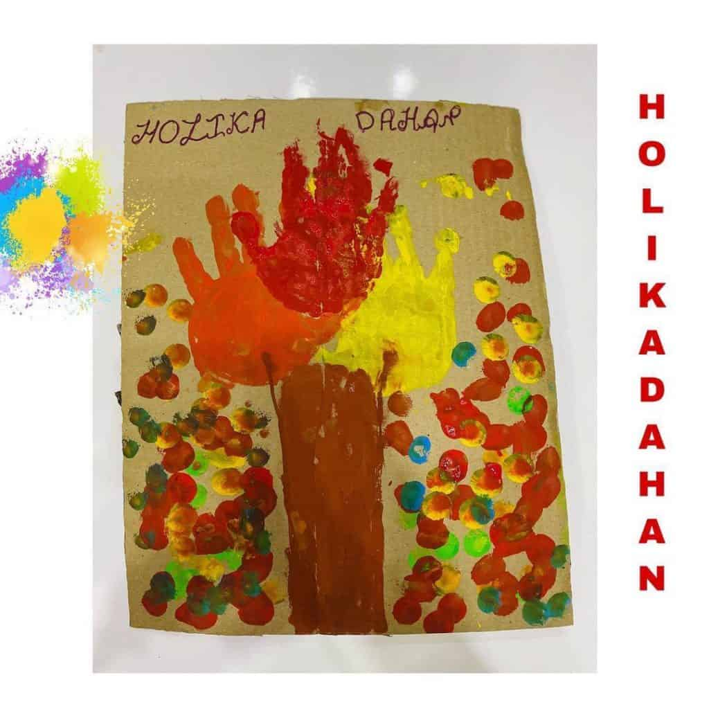 easy Holi activity for toddler, preschooler and kindergarten. Perfect for theme project and festival reading.
