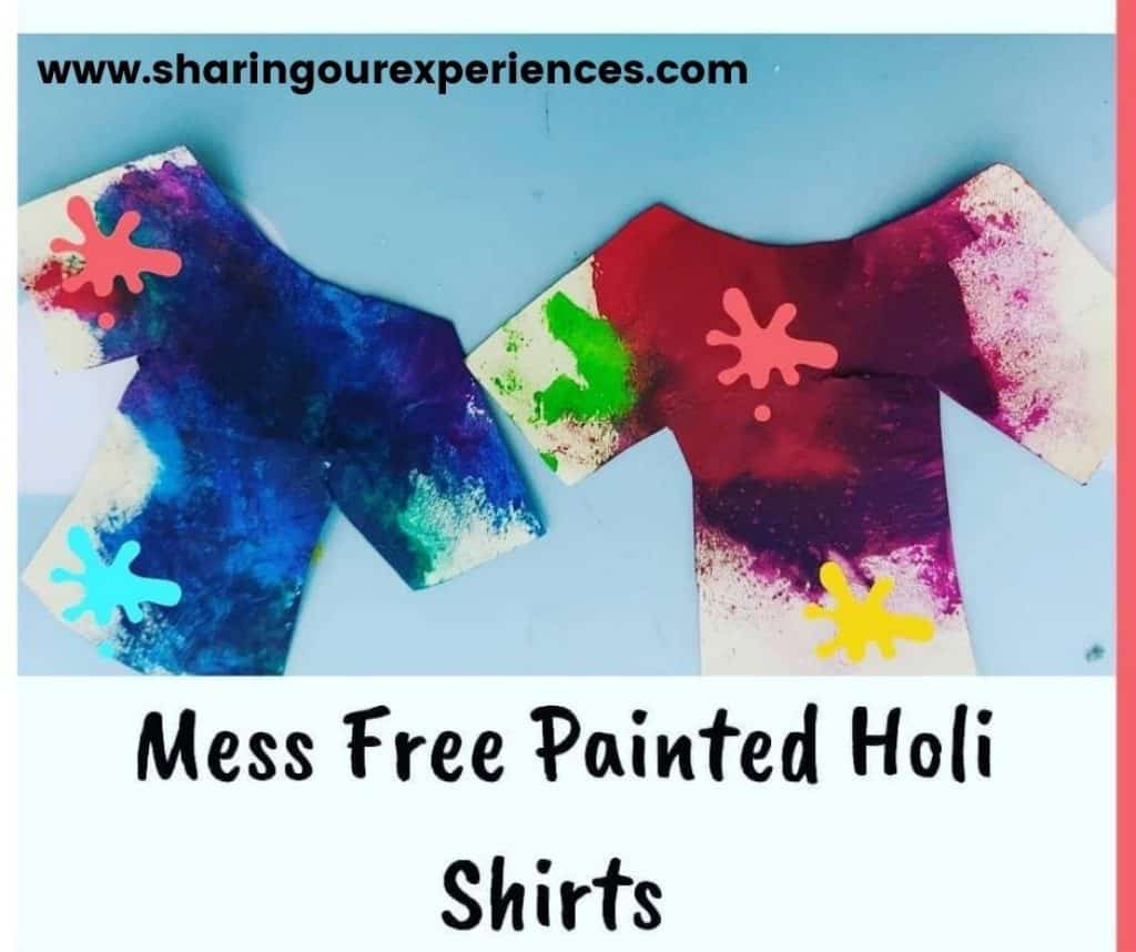 Holi activity for toddler, preschooler and kindergarten as colorful as the festival. Perfect for holi theme school project and reading.