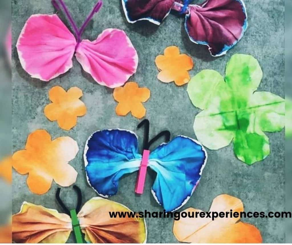 colorful spring craft idea for preschoolers, toddlers and kindergarten. Fun activity for summer or season for theme project