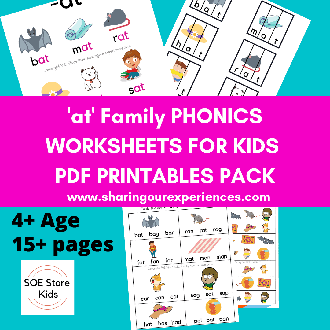 at word family phonics worksheets for kids pdf downloadable