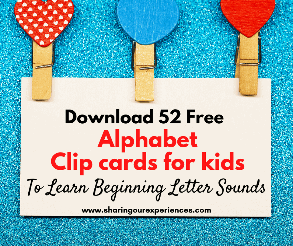 52 Free Beginning Sounds Clip Cards With Images Capital And Small Letter Alphabets Sharing Our Experiences