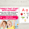 FREE alphabet reading worksheets - things that start with a b