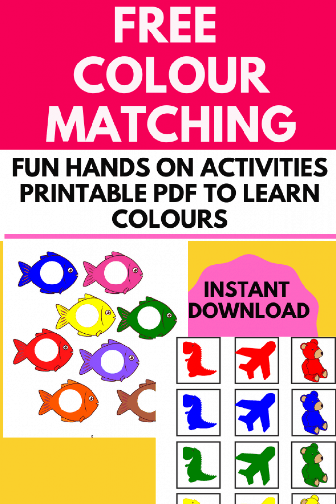 Looking for colour matching activities for toddlers ? Check out these FREE preschool printable that you can use to help your kid identify colours and do some hands-on matching activities.