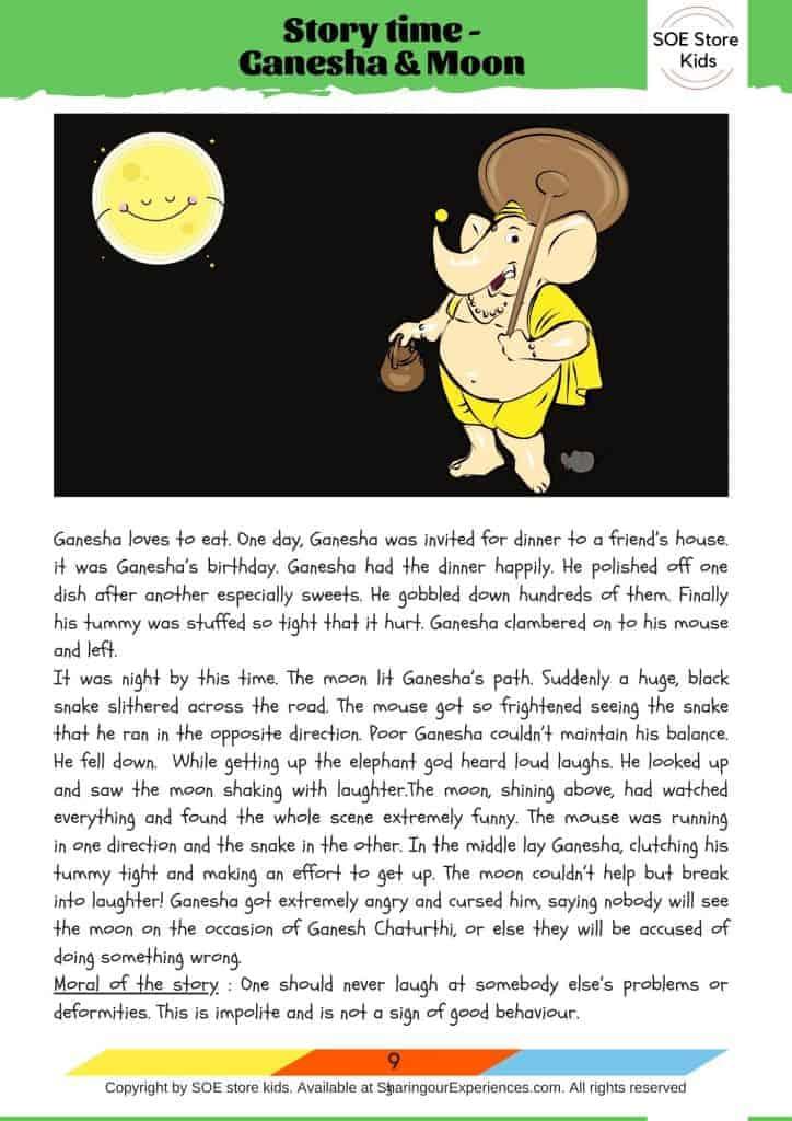 Ganesha story for kids on Ganesh Chaturthi