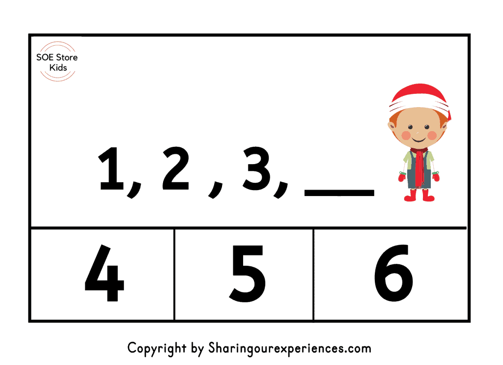 Missing number worksheets 1 -20 free printable pdf. What comes after. Christmas themed clip cards