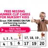 Missing number worksheets pdf 1- 20 pdf - Clip card format
