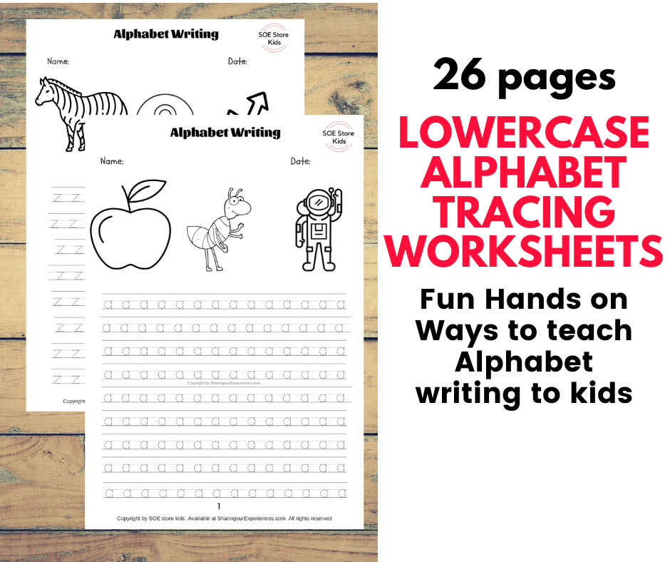 small abc Lowercase Alphabet writing tracing printables worksheets preschool nursery worksheets