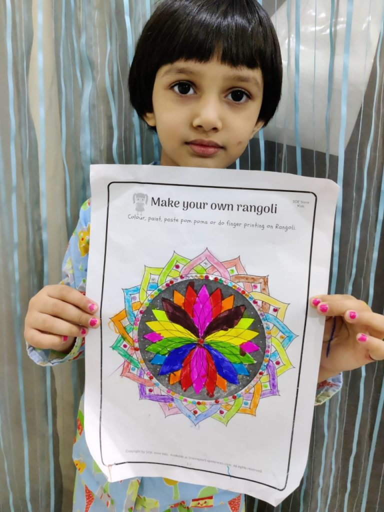 Diwali printables worksheets for Rangoli . Great for toddlers and preschoolers
