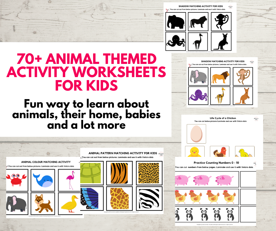 animal themed activities for toddlers and preschoolers printable pack pdf