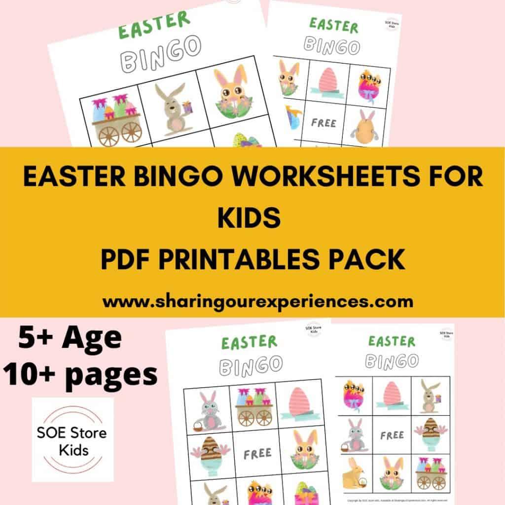 Easter Bingo Printable 3x3 for Kindergarten Kids