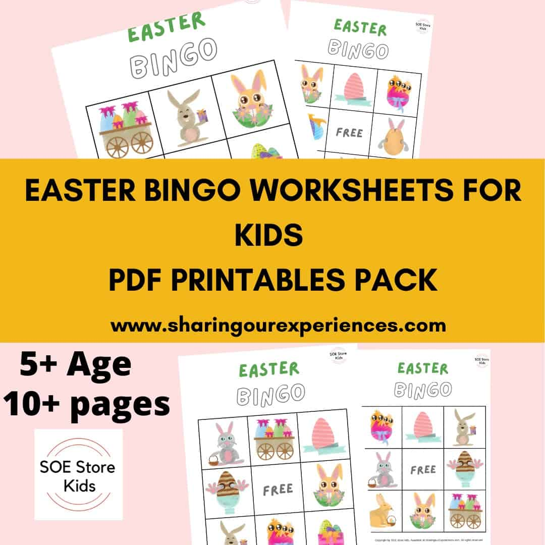Easter Bingo Printable 3x3 for Kindergarten Kids