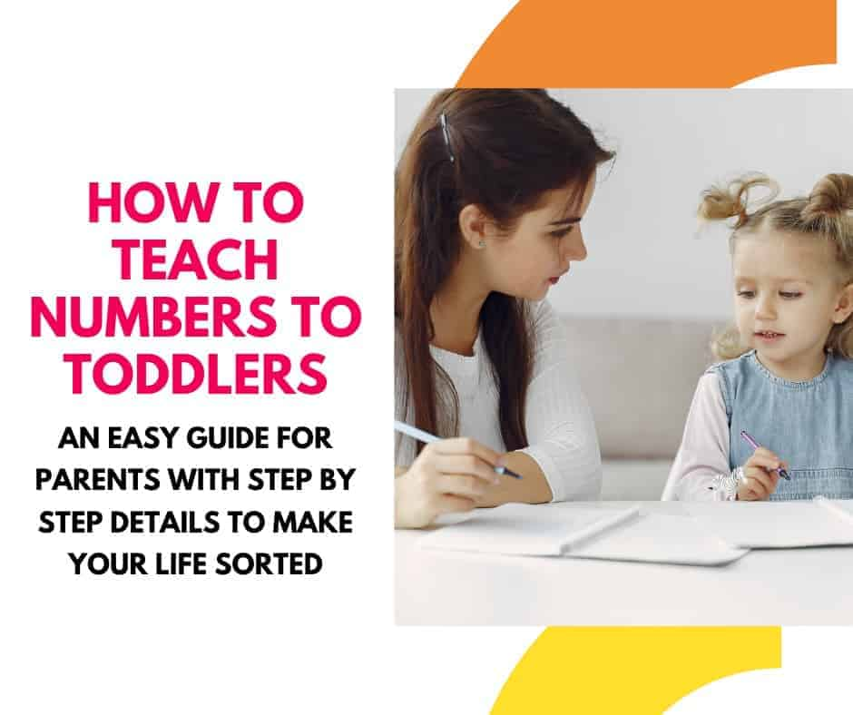 How to teach numbers to toddlers preschoolers number activities for kids